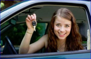 Girl Getting Cheap Car Insurance For Young Drivers