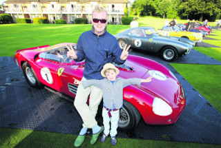 Chris Evans With His Classic Car